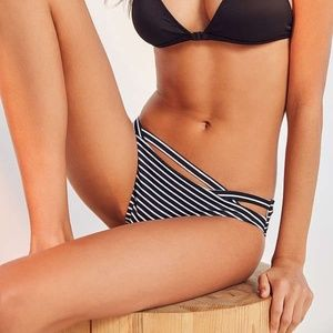 Out From Under Cut Out Stripped Bikini Bottom